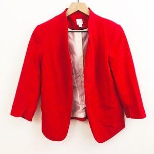 Lauren Conrad Open Front Red Blazer Jacket 6